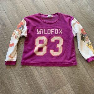 Wildfox sweatshirt floral 83 purple size large